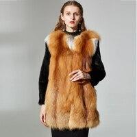 Women Warm Real mink Fur red fox fur Coat Short medium Winter fox Fur Jacket Outerwear Natural mink Fur Coats for Women