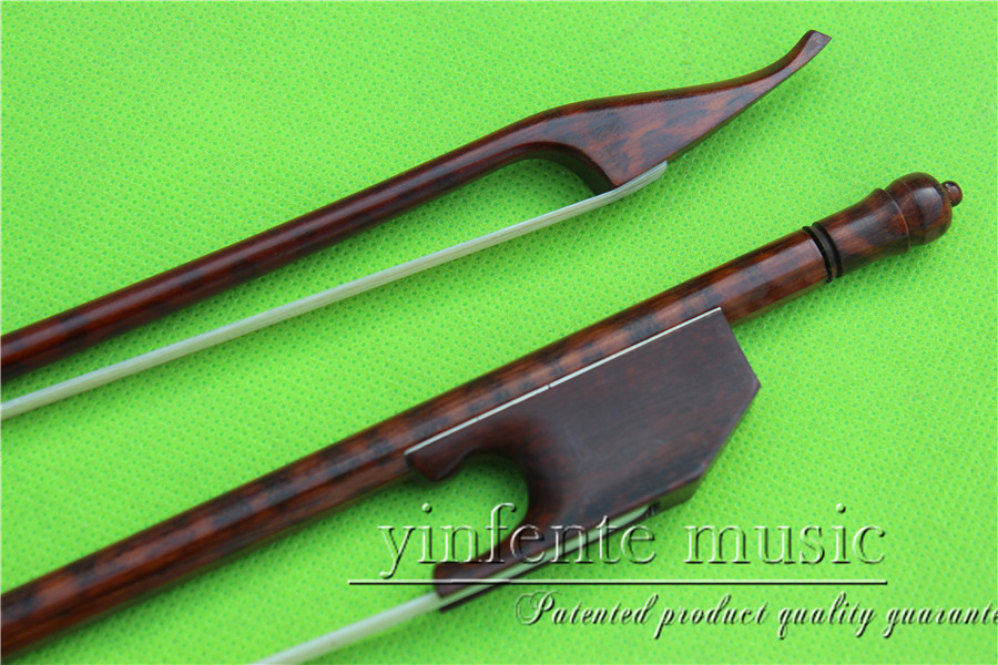 X-009# new 4/4 Violin Bow Snakewood Baroque Straight High Quality 3 pcs 4 4 violin bow baroque ebony straight high quality r3 1