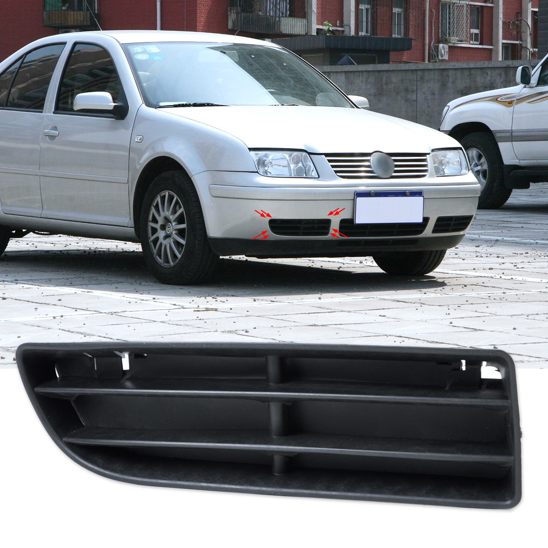 DWCX 1J5853666C Front Right Bumper Lower Grill Vent for VW Volkswagen Jetta Bora MK4 1999 2000 2001 2002 2003 2004 dwcx 1j5853665b 1j5853666c front lower grille bumper vent for volkswagen vw jetta bora mk4 1999 2000 2001 2002 2003 2004
