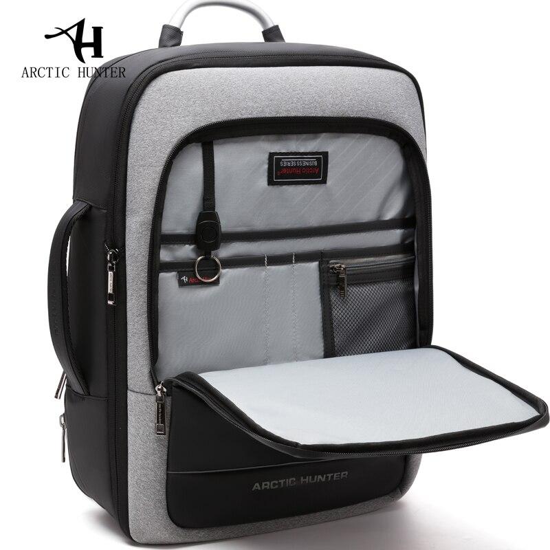 القطب الشمالي هنتر الرجال على ظهره متعددة الوظائف USB شحن 17 بوصة حقيبة لابتوب سعة كبيرة للماء السفر أكياس ظهره-في حقائب الظهر من حقائب وأمتعة على  مجموعة 1