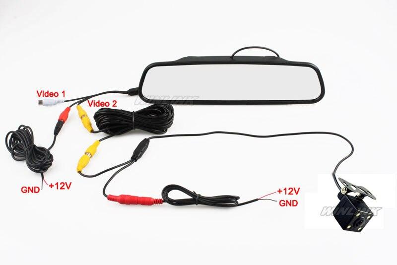 Ccd Hd Waterproof Parking Monitors System Led Night Vision 170 Car
