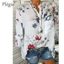 Floral Print Women Blouse Summer Top Plus Size Long Sleeve Shirt  Harajuku Printed Blusa Feminina Womens Tops And Blouses