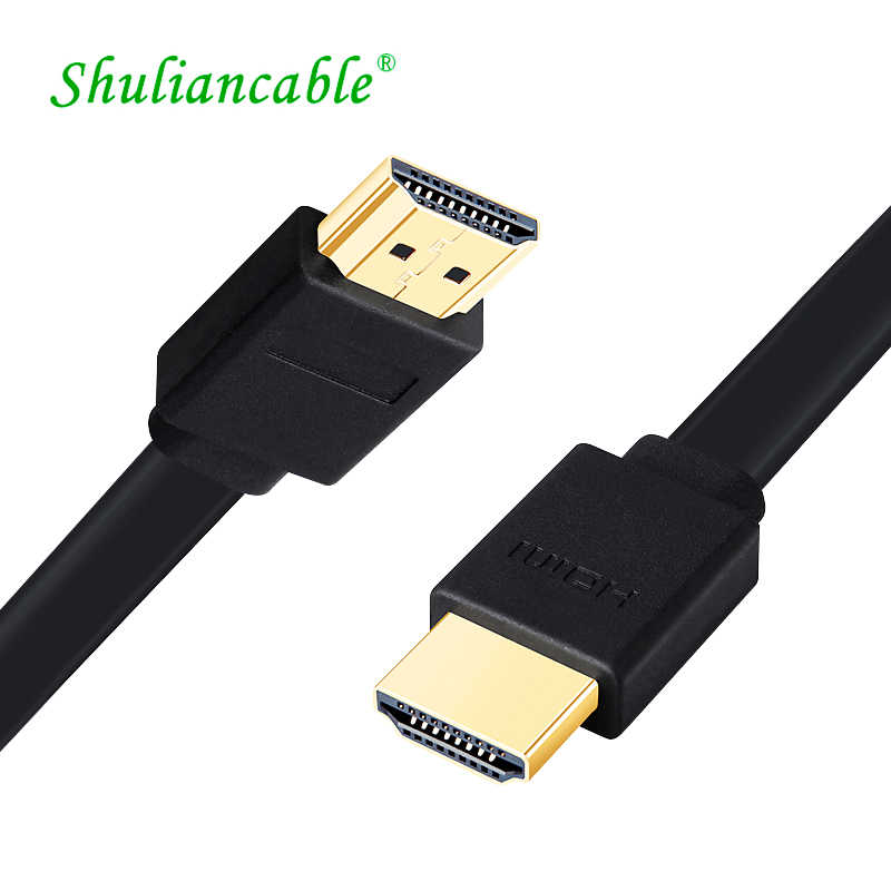 Shuliancable hdmi kabel flache kabel gold-überzogene 2,0 splitter switcher für kabel Ethernet 3D 1080P für set- top box PS3 TV DVD Xbox