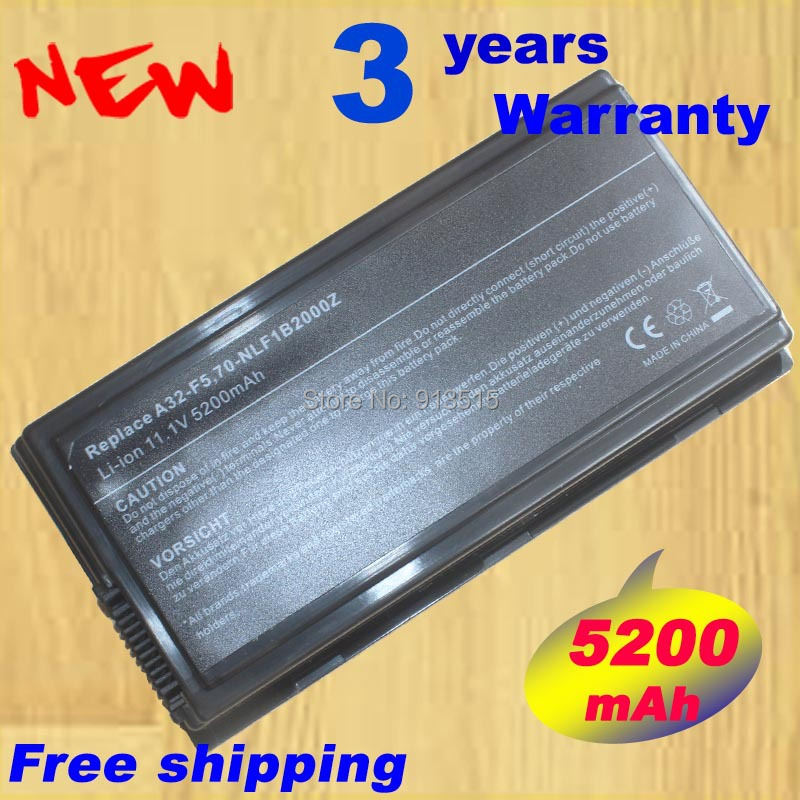 5200mah battery for ASUS A32-F5 F5,F5C F5M F5N F5R F5RL F5SL F5SR F5V X50 X50C X50M X50N X50R X50V 70-NLF1B2000Z 70-NLF1B2000Y for asus f5r f5rl x50r x50rl laptop motherboard rev rev2 3 replace f5sl f5n motherboard fully tested 100