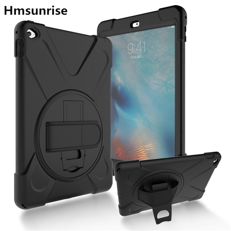 Hmsunrise For Ipad Air2 Shockproof Kids Protector Case For Apple Ipad Air 2 Soft Silicone Stand Cover Hand Hold A1566 A1567 Tablets & E-books Case