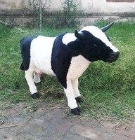 Моделирование корова 1:1 модель большой 100x70 см пластик и меха коровы ремесло, фермы украшения игрушка в подарок w5886