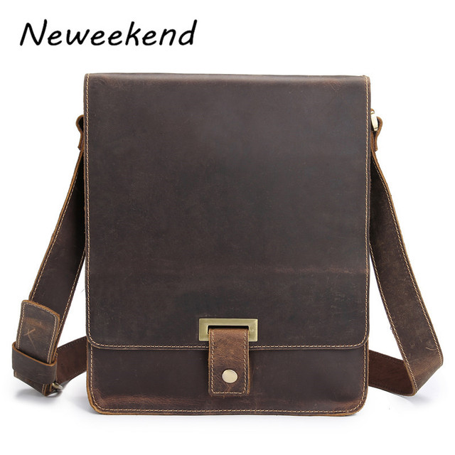 Men S Bags Handbags Ipad Brand Genuine Crazy Horse Leather Vintage Crossbody Business Bag Shoulder For