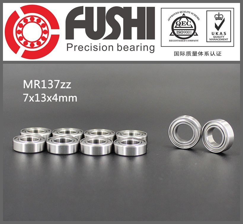 MR137ZZ Bearing ABEC-1 (10PCS) 7*13*4 mm Miniature MR137 ZZ Ball Bearings L1370ZZ MR137Z 6903zz bearing abec 1 10pcs 17x30x7 mm thin section 6903 zz ball bearings 6903z 61903 z