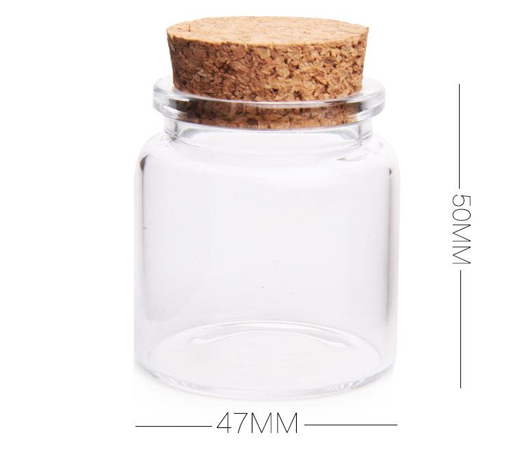 Recycled Gl Cork Lid Storage Jar