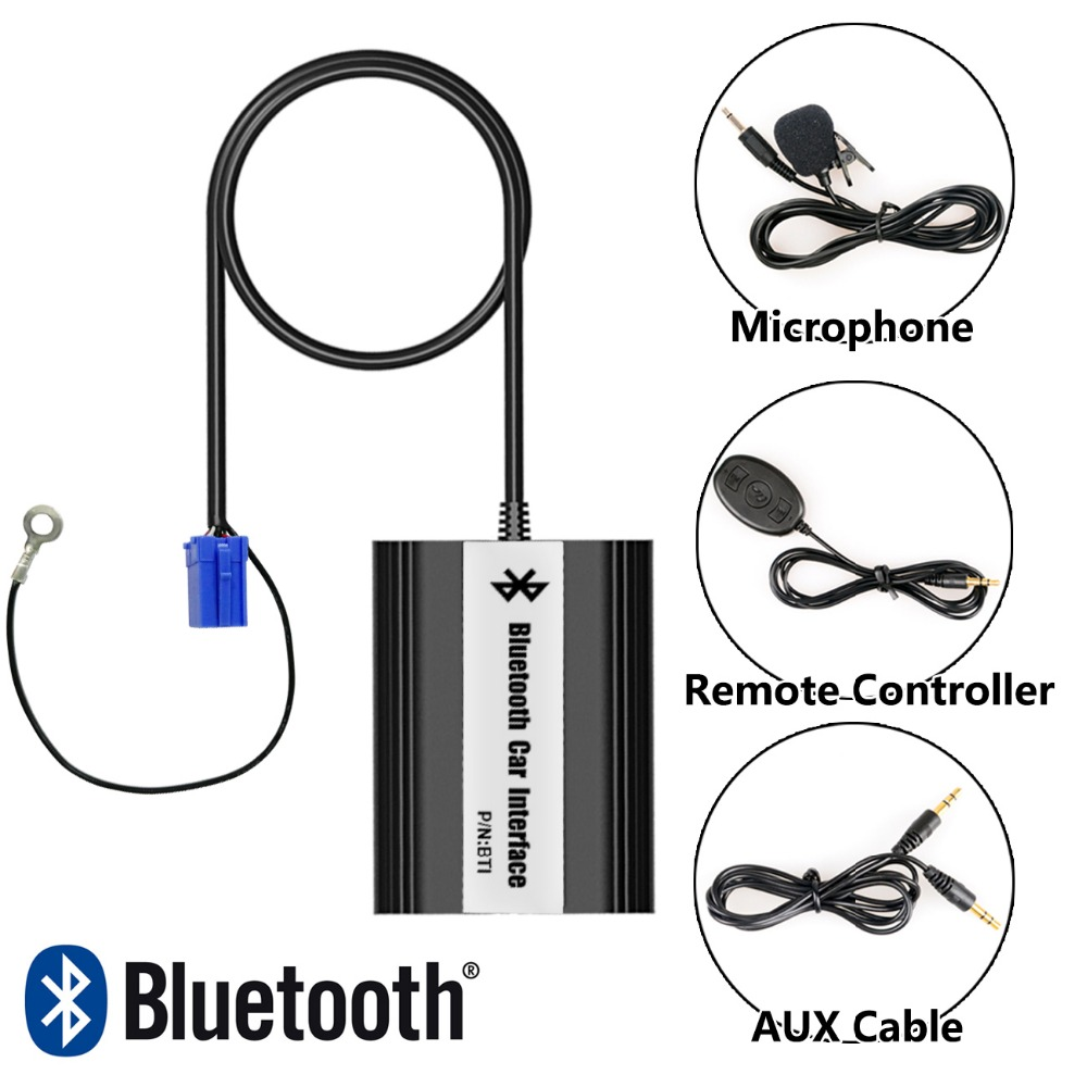 Bluetooth Hands Free Adaptor Car Integrated USB AUX Jack Interface for Seat Cordoba 2003-2006, Ibiza 1999-2007 car usb sd aux adapter digital music changer mp3 converter for skoda octavia 2007 2011 fits select oem radios