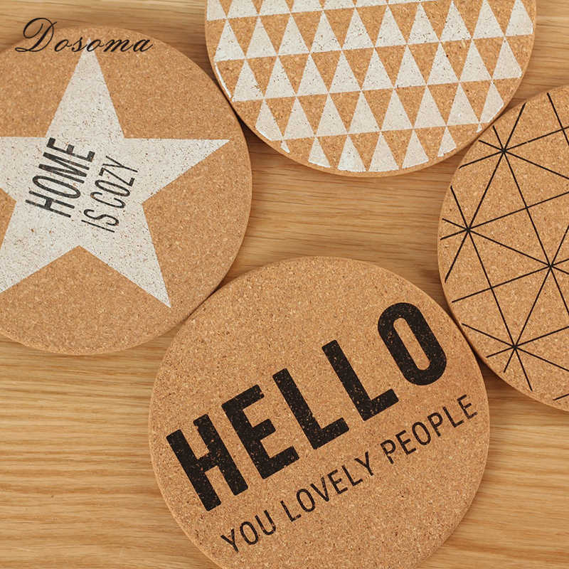 Corkwood Geometry Letter Dish Mat Nordic Style Concise Placemat For Dining Table Stand Under The Hot Pads Chancery Coasters