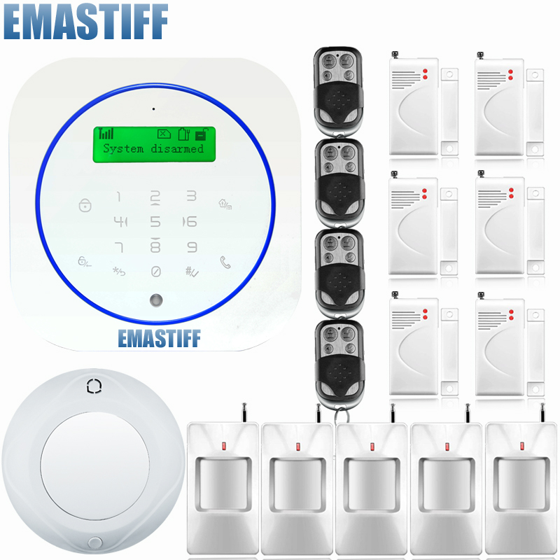 Free Shipping! English/Deutsch/Espanol/Italiano Voice wireless wired LCD andriod APP intercom Home Burglar Security alarm system romanson rl 4210q lw wh