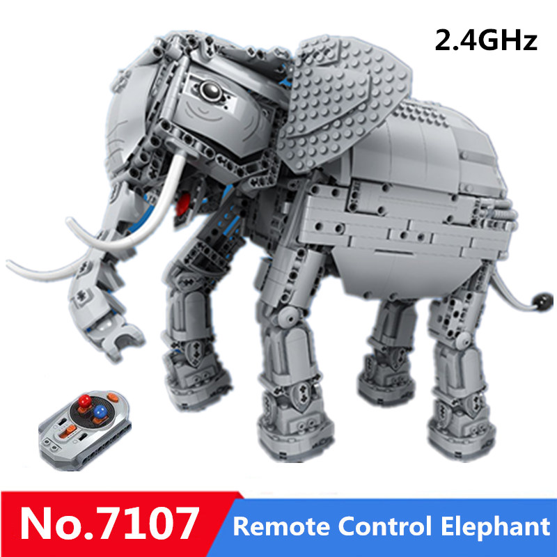 1542pcs Creative RC Remote Control Elephant Animal Electric Building Blocks Winner 7107 Toys For Children Gift Compatible Legoed1542pcs Creative RC Remote Control Elephant Animal Electric Building Blocks Winner 7107 Toys For Children Gift Compatible Legoed