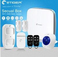 Самые передовые Wi Fi Охранной Сигнализации Системы etiger secual коробка умный дом аварийная система домашние проблесковая вспышка Siren