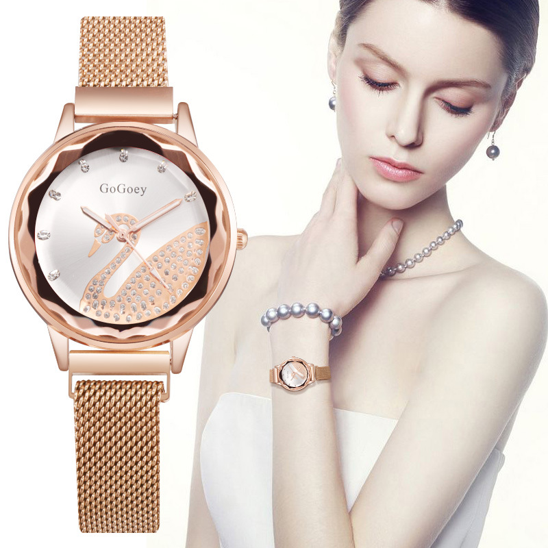 Net Ladies Watch Female Gogoey Watch Wild Fashion Net Belt Magnetic Snap Watch Rock Party WatchNet Ladies Watch Female Gogoey Watch Wild Fashion Net Belt Magnetic Snap Watch Rock Party Watch