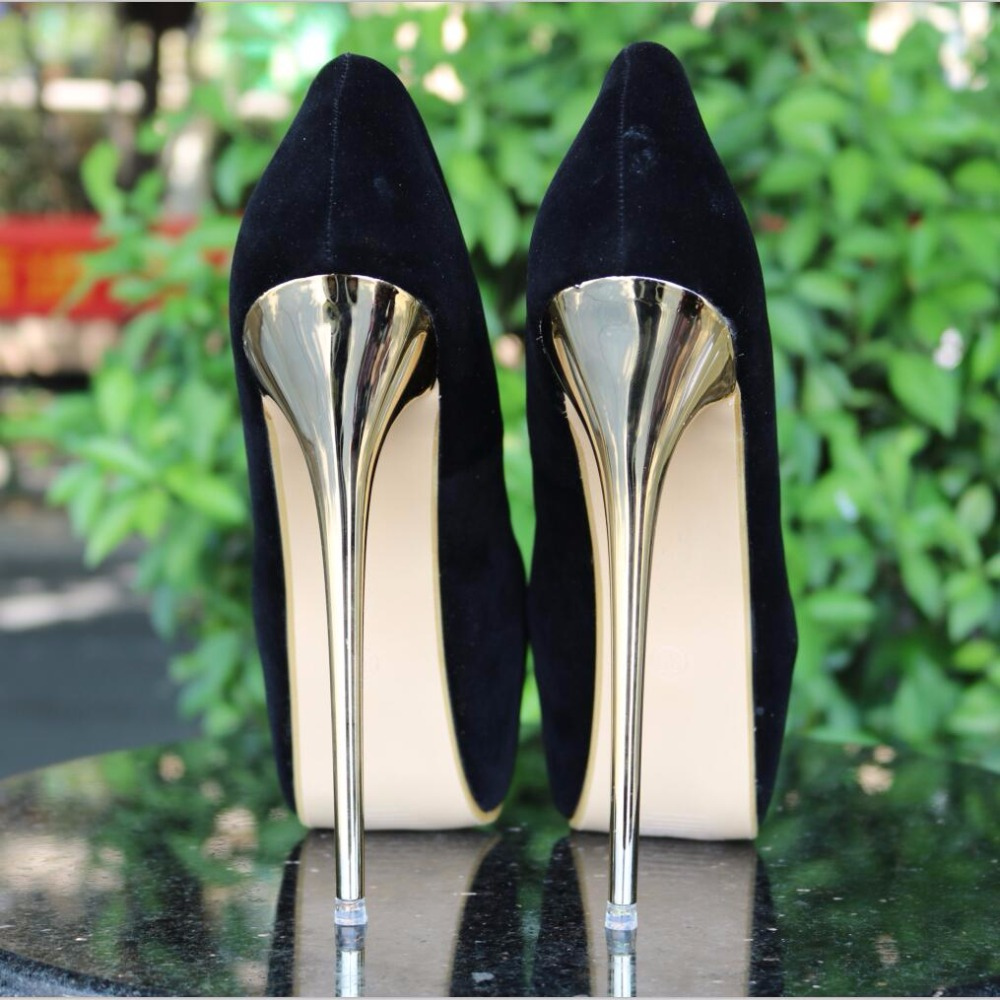 a8e36471c61 HOT New Sexy Women Pumps 16CM Round Toe High Heels Women Shoes Simple Fine  Heels Women's Singles Shoes Size 34-40