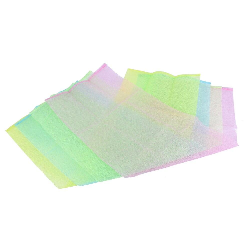 1Piece Nylon Japanese Exfoliating Beauty Skin Towel Back Scrub Body Cleaning Washing Sponges& Scrubbers Bath Shower Wash Cloth