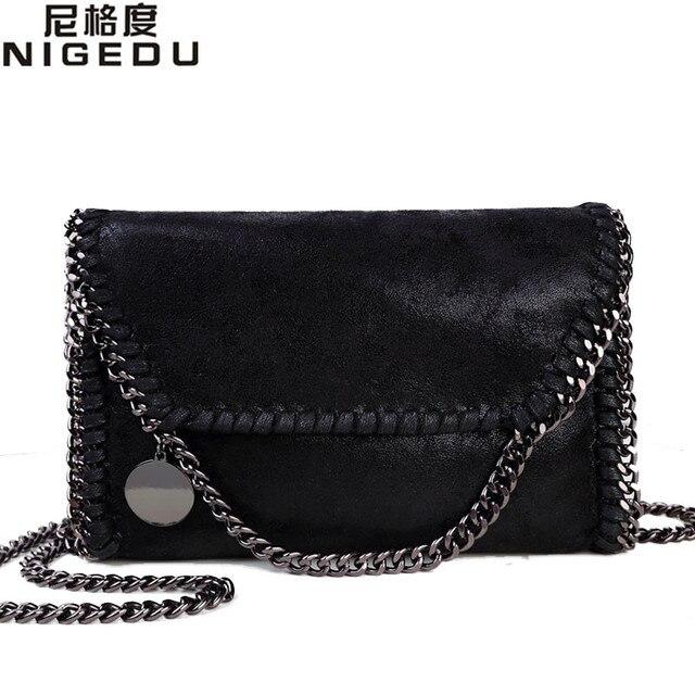 Nigedu moda das mulheres stella design detalhe cadeia saco corpo cruz saco de ombro das senhoras saco de embreagem bolsa franja sacos de luxo à noite