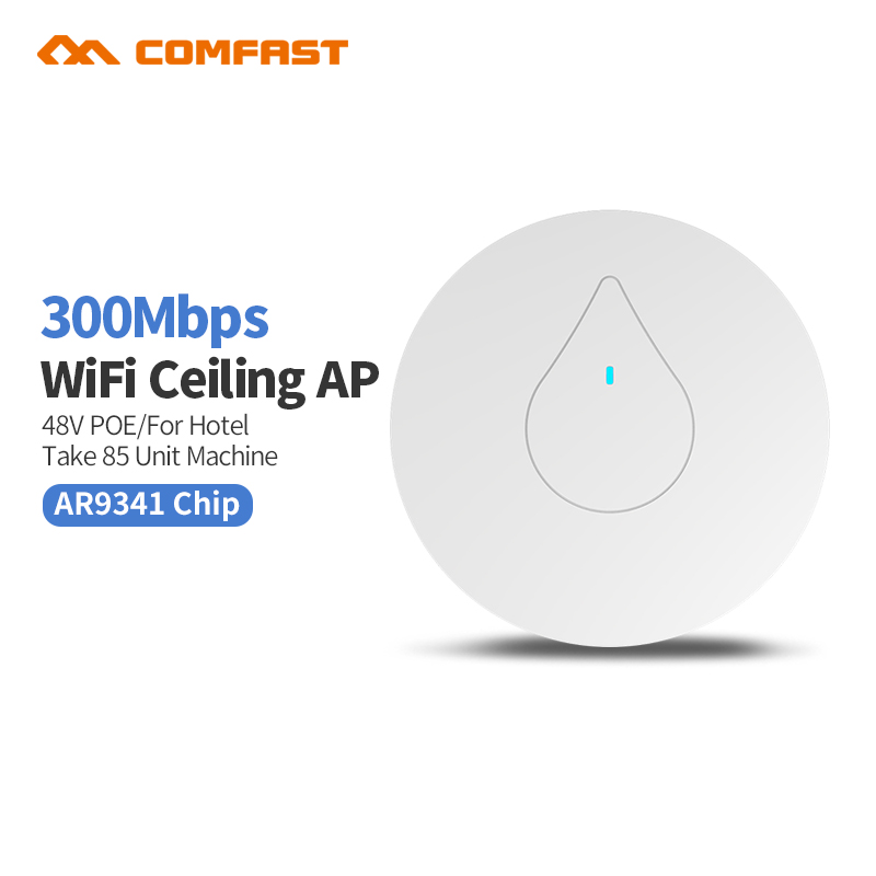 COMFAST CF-E350N Through Wall Powerful 300M Indoor Ceiling AP 48V Poe Adapter Wi fi Router Access Point Bridge Signal Amplier AP jd коллекция 300m потолок ap дефолт