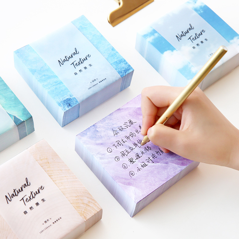 400sheets/pc sqaure thick nature sky tree purple leaf wood shape kawaii cute memo pad sticky notes paper sticker post it office kitmmm6445ssppap3030131 value kit post it super sticky large format notes mmm6445ssp and paper mate sharpwriter mechanical pencil pap3030131