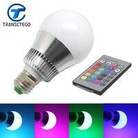 RGB LED Bulb Energy Saving Lamps 10W Indoor Colorful Single Lamp E27