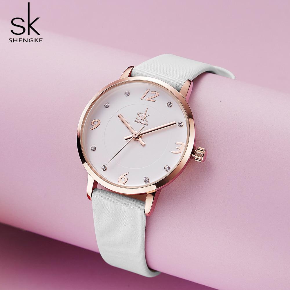 Shengke Modern Fashion Women's Watches Female Quartz Watch Female Casual Wristwatch Waterproof Wristwatch Gift