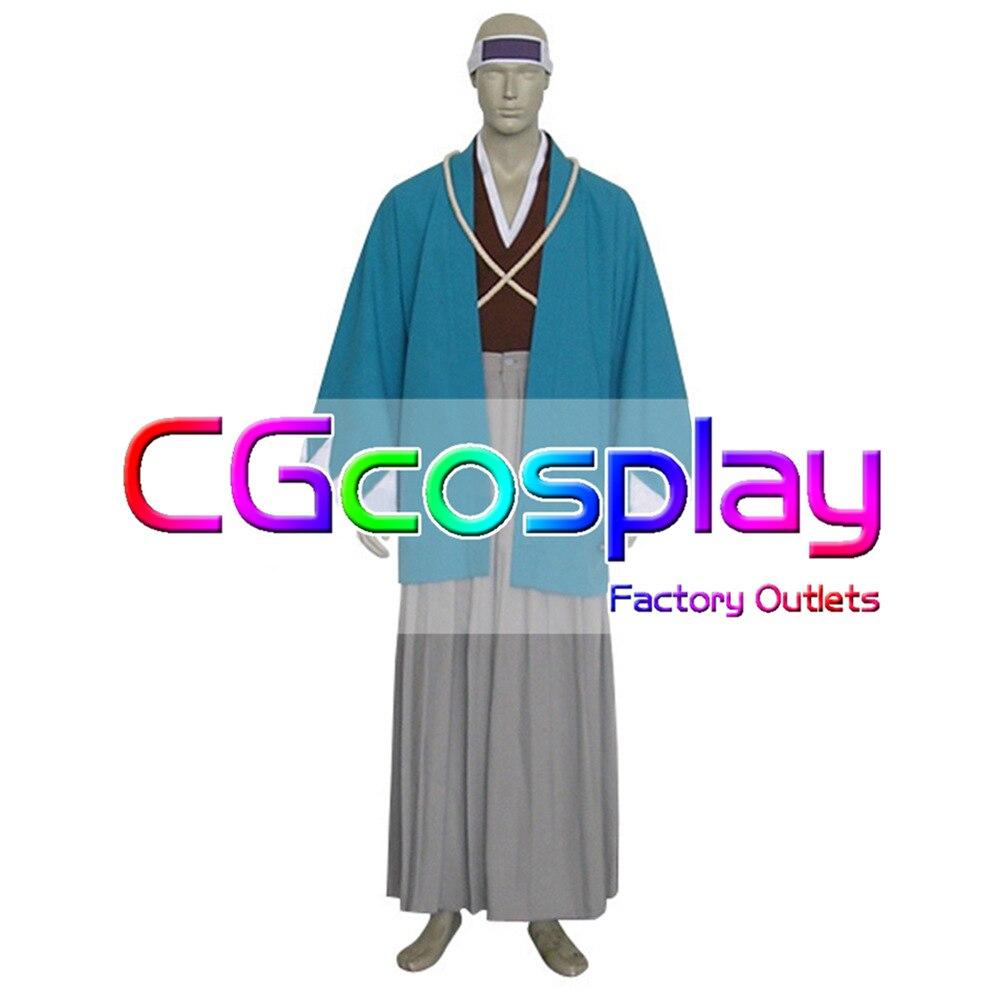 Livraison gratuite Costume Cosplay Rurouni Kenshin Saito Hajime Shinsengumi nouveau en Stock vente au détail/gros fête de noël Halloween