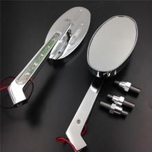 For Motorcycle Honda CBR600 900 929 954 1000RR OVAL Shape LED turn signals Running Mirror