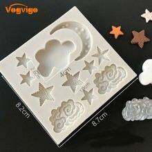 Vogvigo силиконовая форма в виде Луны звезд облаков для помадки