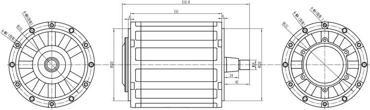 单独电机图纸