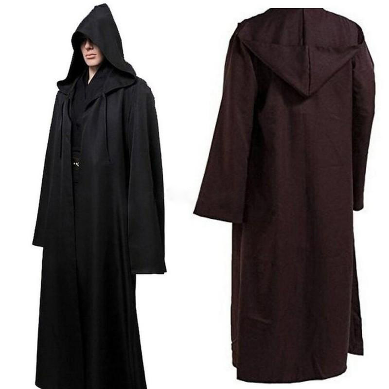 Men Soft Star War Bath Robe Jedi Hooded Bathrobe Cloak Halloween Cosplay Costume