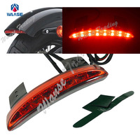 waase Chopped Fender Edge LED Taillight Red For HARLEY Iron 883 XL883N Sportster Nightster Seventy Two Forty Eight XL1200N