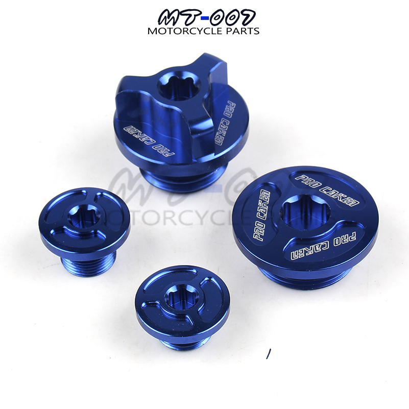 Blue Water Cooled Engine Billet Aluminum Engine Timing Oil Plug Set for ZONGSHEN NC250 NC 250CC Parts Accessories Free Shipping