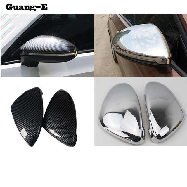 Car ABS Chrome Back Rear View Rearview Side Mirror Stick Trim Panel Lamp part For VW Volkswagen Golf7 Golf 7 2014 2015 2016 2017