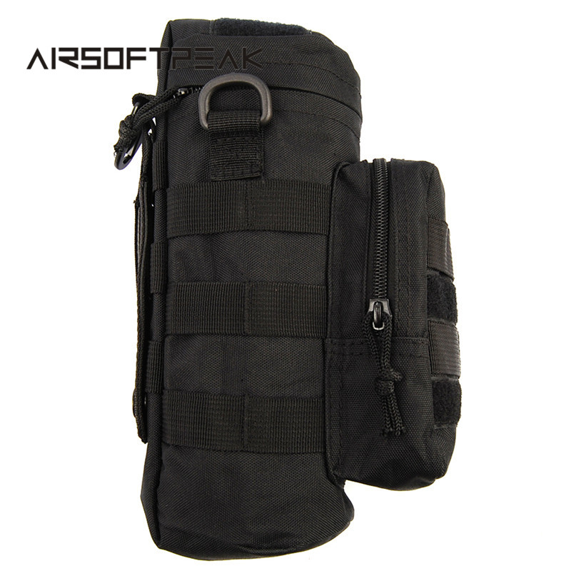 Tactische Molle Zipper Camo Waterfles Pouches Small Mess Pouch Nylon Waterdichte heuptas Outdoor Travel bidon sporttas