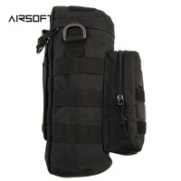 Tactical Molle Zipper Camo Water Bottle Pouches Small Mess Pouch Nylon Waterproof Waist Bag Outdoor Travel