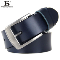 100 Cowhide Genuine Leather Belts For Men Brand Stylish Luxury Strap Male Pin Buckle Black Fancy