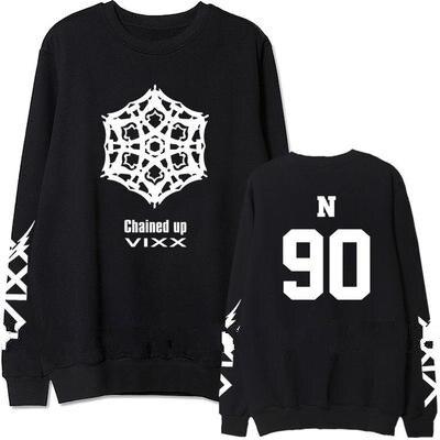 kpop VIXX KEN same fashion Print hoodies women Korea Spring autumn thin hooded sweatshirts men cotton Harajuku clothes pullovers