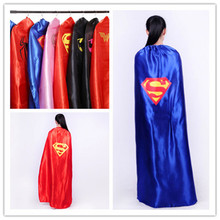55inch/140cm Adult Superhero Cape Batman Spider Captin American Women Wonder Cos