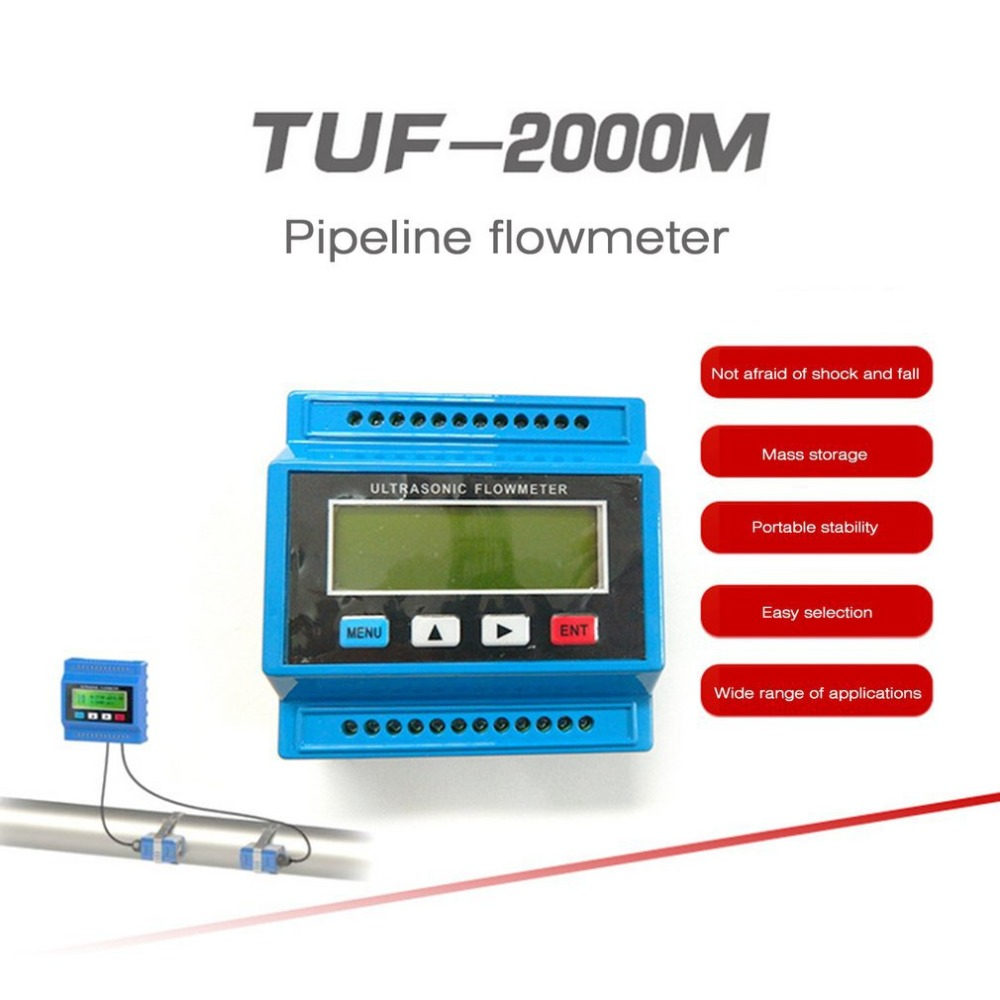 TUF-2000M TM-1 Portable Digital Ultrasonic Flowmeter Flow Meter Tester Heat Water Flow Meter With RS-232 Output Easy InstallatioTUF-2000M TM-1 Portable Digital Ultrasonic Flowmeter Flow Meter Tester Heat Water Flow Meter With RS-232 Output Easy Installatio