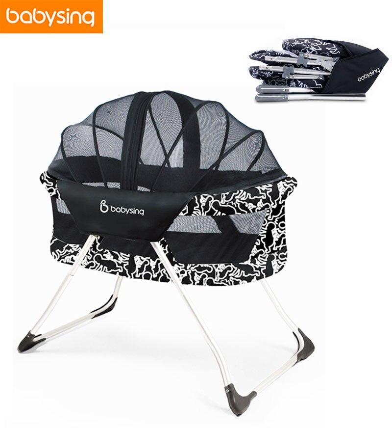 360 Degree Hallow Out Babies Portable Crib Newborn Baby Travel Foldable Crib Alumium Baby Rocking Mobile Crib Bed for Newborn термокружка emsa travel mug 360 мл 513351