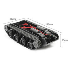 Wenhsin Robot Tank Chassis Handmade DIY Kit Light Shock Absorbed 130 Motors Damping Balance Tank Robot Chassis for Arduino SCM(China)