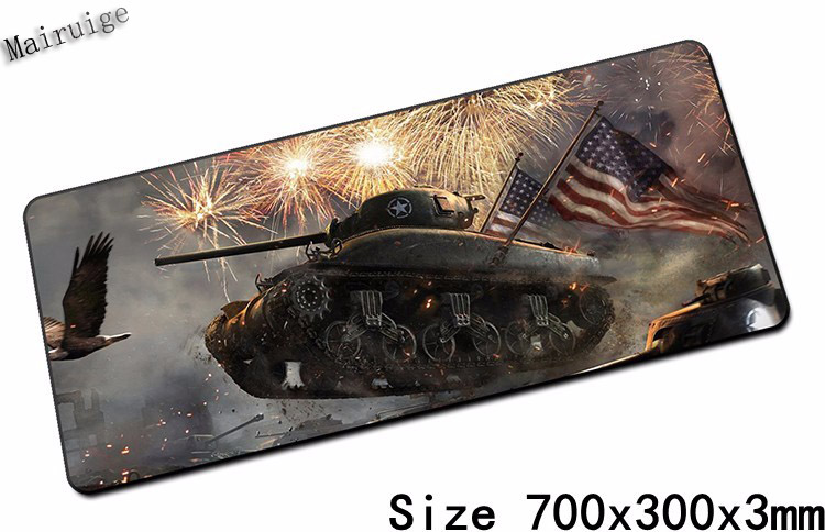 Mairuige World of Tanks Mouse Pad 700x300mm Pad To Mouse Notbook Computer Mousepad Custom Gaming Padmouse Gamer To Laptop Mouse