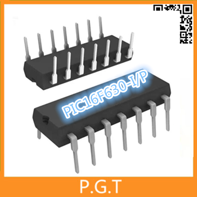 10pcs new not refurbisehd PIC16F630-I/P IC 8-Bit 20MHz 1.75KB (1K x 14) FLASH 14-PDIP