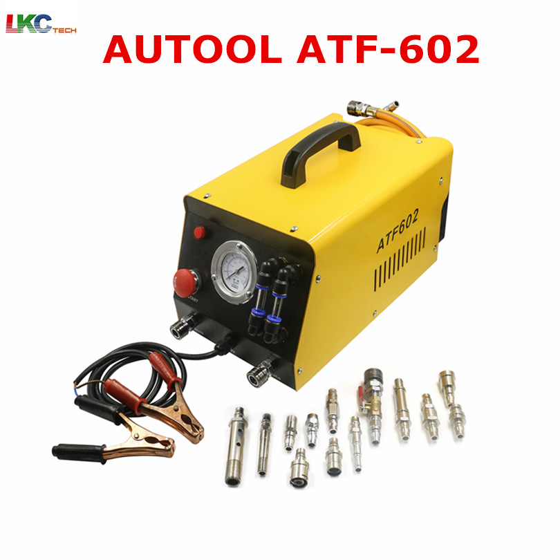 Universal AUTOOL ATF602 12V Auto Gearbox Oil Exchange Cleaning Machine ATF 602 Car Automatic Transmission Fluid Exchanger ATF602