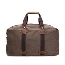 ROCKCOW Big Capacity Portable Luggage Moving Bags Travel Bag Canvas Duffle Bag AF15