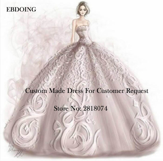 Ebdoing 2018 Custom Made Link For Wedding Dress With Customer Request Customize Fee Contact Us Before