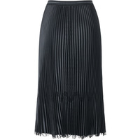 Plus Size Skirt Women Fashion Lace Patchwork Autumn And Winter New High Waist Mid calf Black Stretch Miyake Pleated Skirt Female
