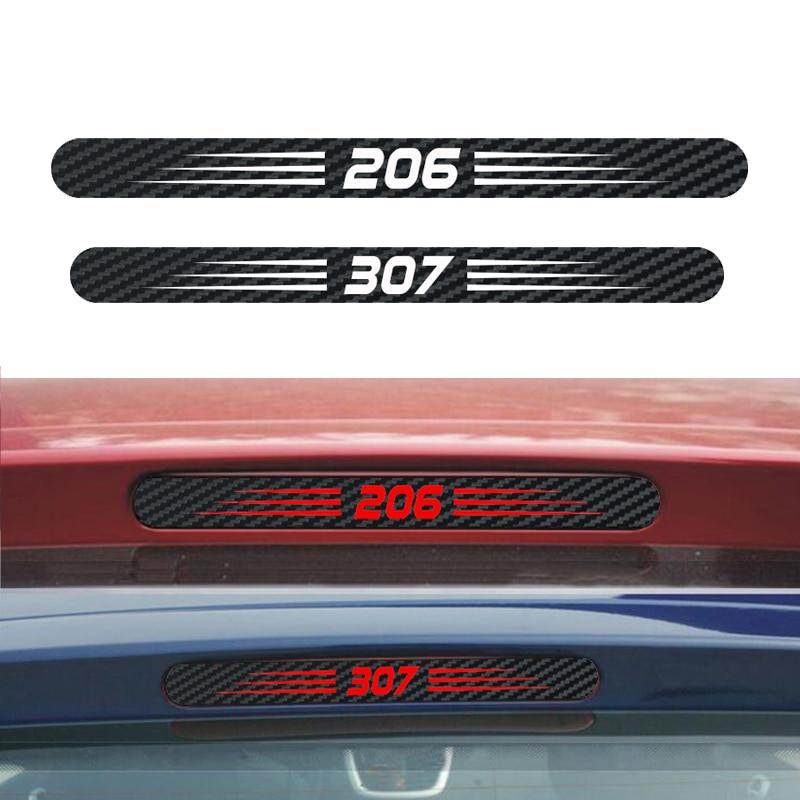 Автомобильный стоп-сигнал из углеродного волокна 3D наклейка тормозные огни декоративные наклейки чехол для Peugeot 206 307 аксессуары