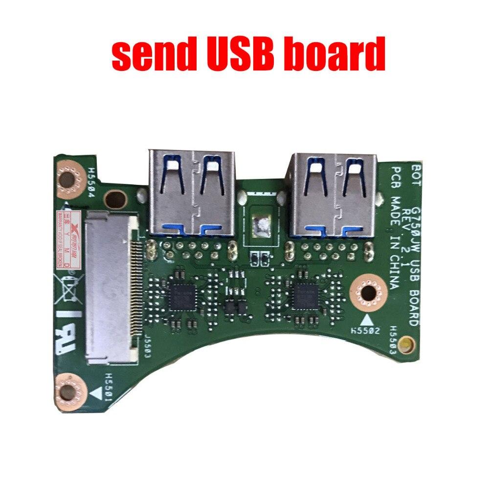 US $134 9 5% OFF|G750JS G750JM Laptop motherboar For ASUS ROG G750J G750JM  mianboard i7 4700HQ CPU Support GTX860M/2GB VGA-in Motherboards from